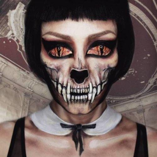 Потрясающе кошмарный грим Посмотрите на работы потрясающего мастера-визажиста Юлии Вундерлих. Она - профессиональный визажист из Берлина, основное направление ее работ - создание шокирующих,