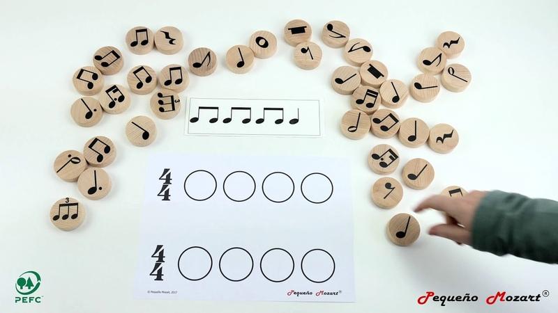 Compases - Figuras musicales Pequeño Mozart en madera de haya