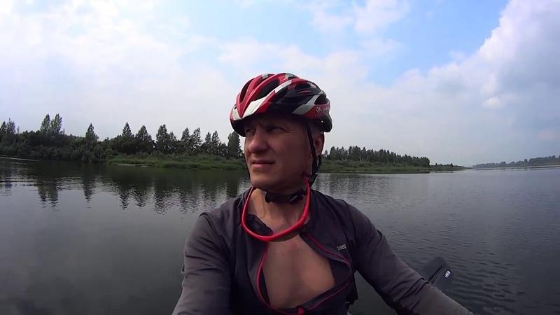27.07.19. На лодке с велосипедом против течения (эксперимент)