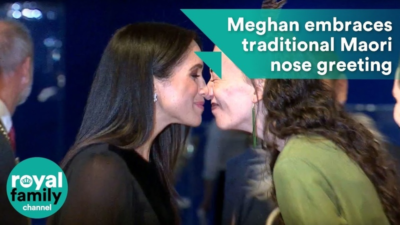 Meghan embraces traditional Maori nose greeting