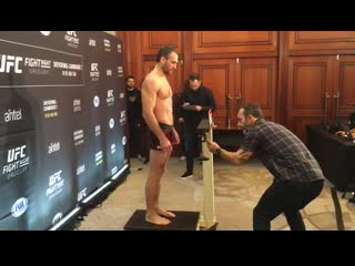 UFC Uruguay: Кунченко прошел взвешивание перед турниром.