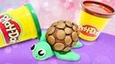 Okul öncesi etkinlikleri. Play-Doh oyun hamuru ile kaplumbağa yaıyoruz