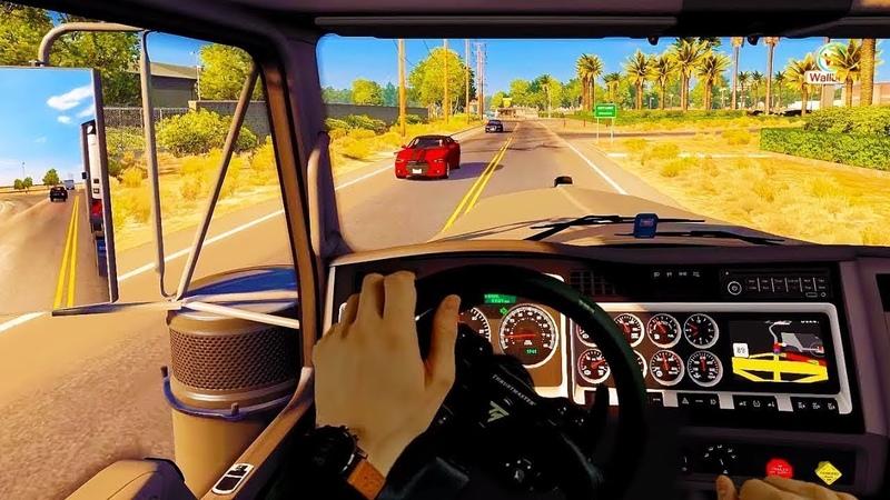 One Day in American Truck Simulator Traffic 🚦 Real Steering Wheel