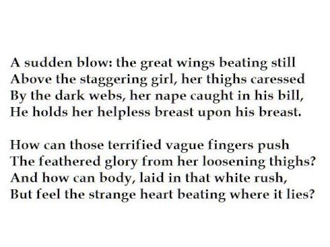 Leda and the Swan by W.B. Yeats (read by Tom O'Bedlam)