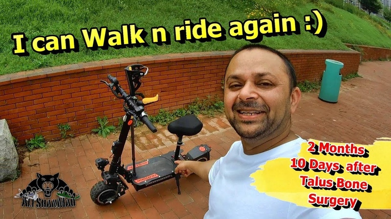 I walk and Ride again after 2 months 10 days of Talus Bone Surgery