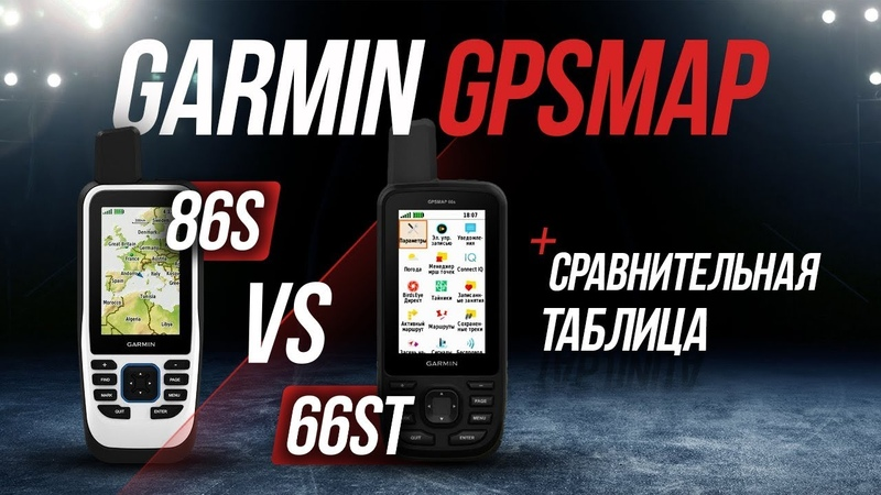Навигатор Гармин GPSMAP 86S против 66ST