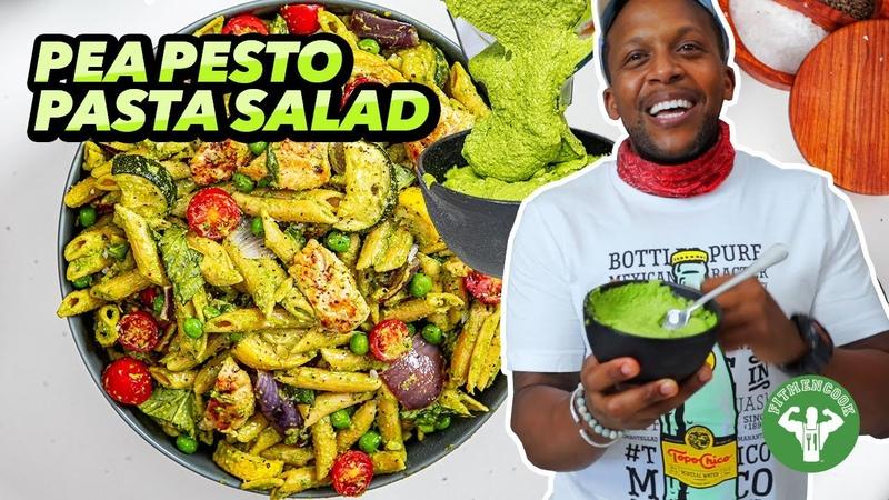 Mediterranean Pea Pesto Pasta Salad