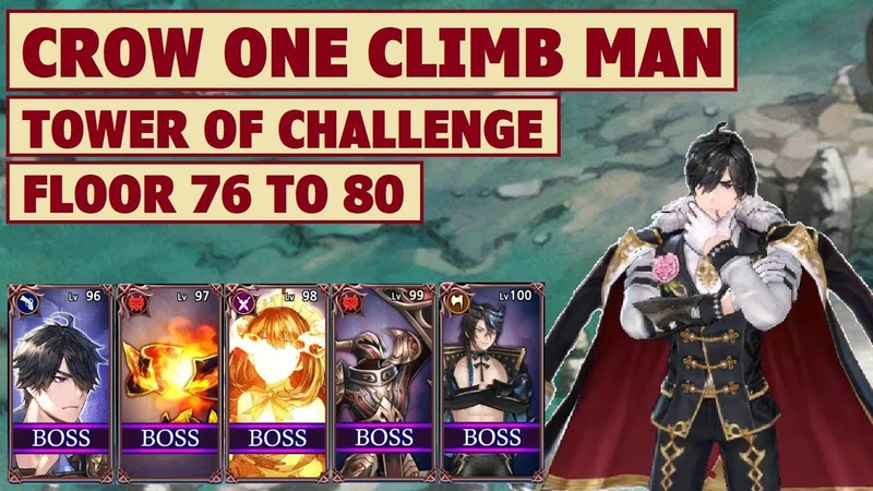King's Raid - Crow One Climb Man Tower of Challenge Floor 76 to Floor 80