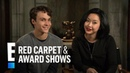 Lana Condor Benjamin Wadsworth Give a Deadly Class Lesson | E! Red Carpet Award Shows