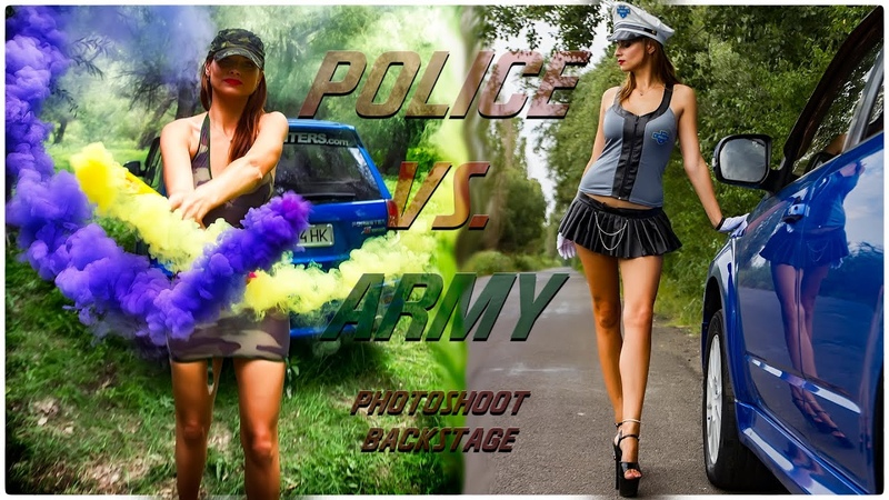 Cars Girls: Police Vs. Army Photoshoot Backstage