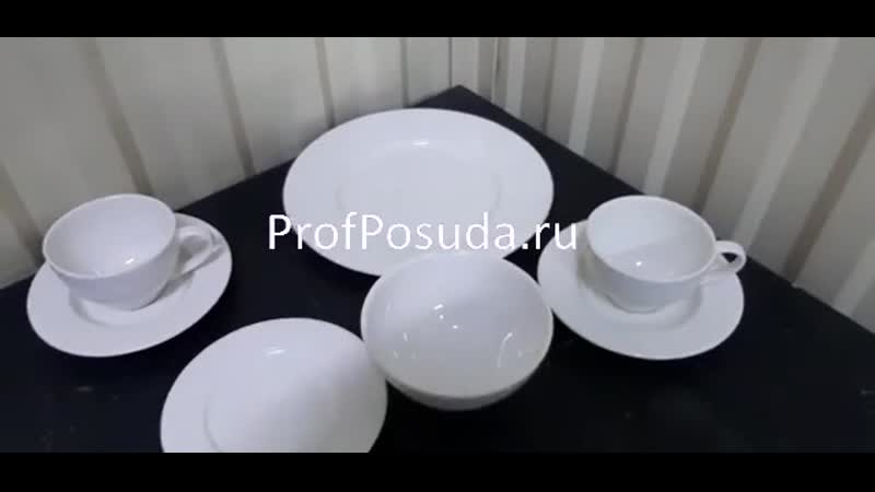 Белая рифленая посуда Optik Steelite