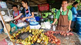 Street Food MEAT SWEATS!! 🥩 Roadside BREAKFAST in Chiang Mai! | ลาบเนื้อดิบ