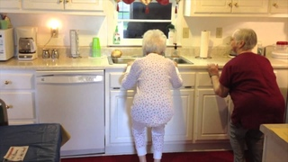 My 100 year old grandma doing her daily exercise routine :)