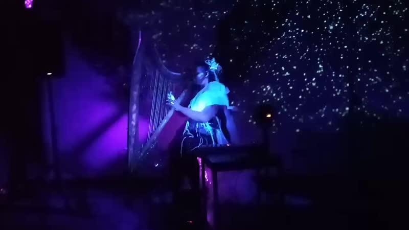 Перформанс Арфа в темноте от Ольги Максимовой из Санкт Петербурга Москва 09 03 2020