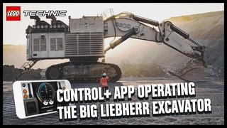 Driving one of the biggest excavators in the world with the LEGO Control+ app! | LEGO Technic