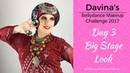 Davina's Belly Dance Makeup Challenge - Day 3 -Big Stage look - Turban Tying Demo