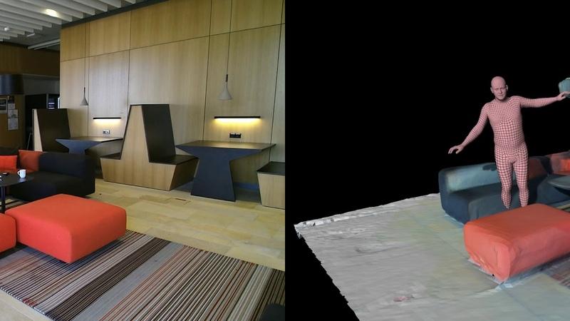 PROX dataset 3D people interacting with 3D scenes ICCV 2019