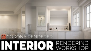 3ds Max 2020 Corona Render  Interior Tutorial | Lighting, material and Post production