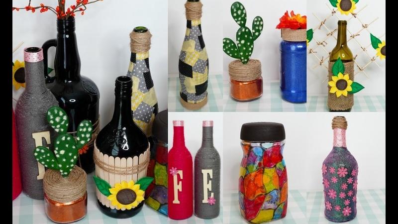 8 IDEAS Fáciles y Sencillas con Botellas de Vidrio