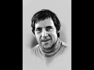 Видео процесс написания портрета В.Высоцкого