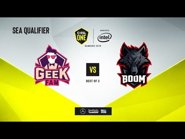 Geek Fam vs BOOM Esport, ESL One Hamburg 2019 QL, bo3, game 1 [Maelstorm]
