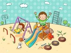 Построена еще одна детская площадка