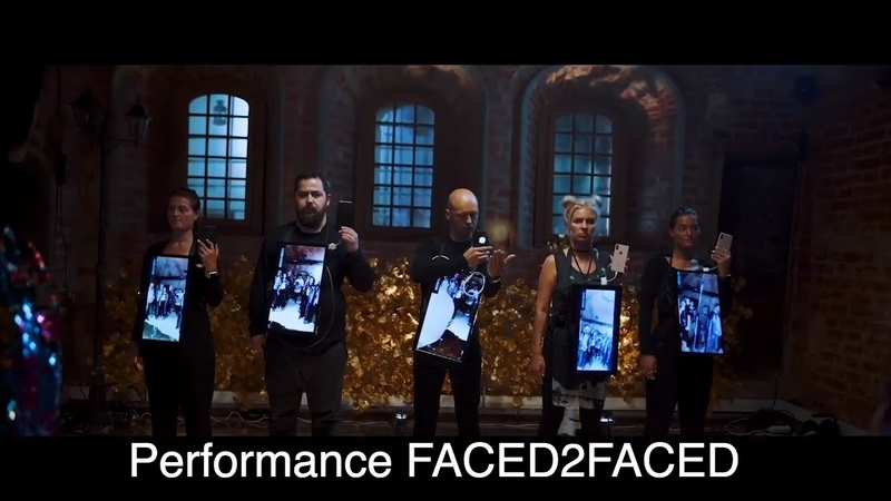 Performance Faced2Faced Venice Biennale 2019 Digital art from Russia