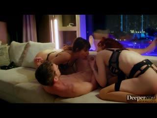 Riley Reid and Maitland Ward: Group sex, Threesome, Lesbian, Strapon, Ffm