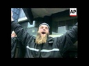 BOSNIA MUJAHIDEEN FIGHTERS STAGE PROTEST