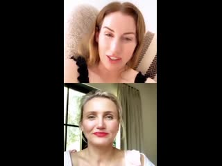 Cameron Diaz on Live Instagram