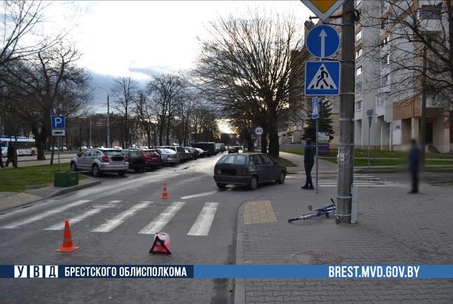 В Бресте в дорожной аварии пострадал велосипедист