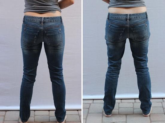 Вытягиваются коленки на джинсах, брюках: что делать