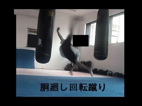 The Power of Do Mawashi Kaiten Geri (Kyokushin Wheel Kick - 胴廻し回転蹴り )