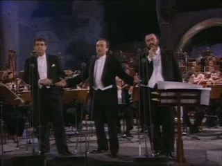 Los Tres Tenores -Nessun Dorma to choir- Roma 7/7/1990