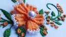 Hand Embroidery: Flower Embroidery Weaving Picot Stitch by Fork Trick
