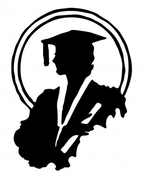 graduate silhouette clipart - HD1535×1920