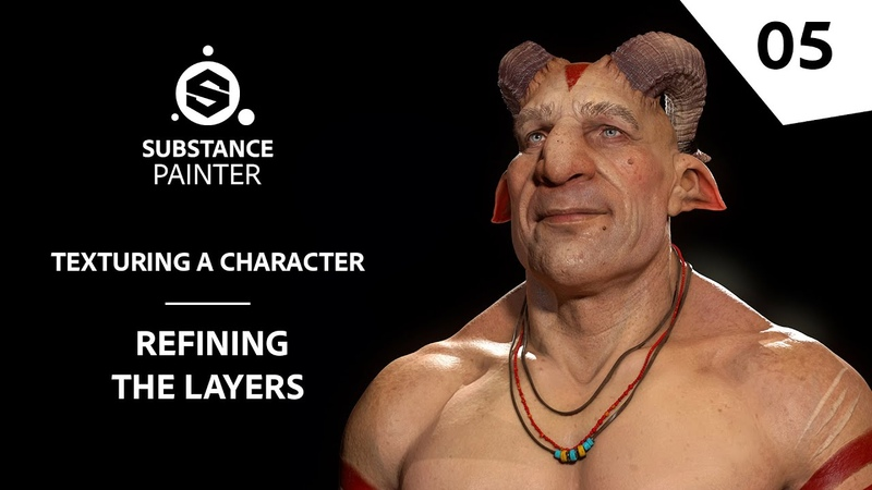 Texturing Characters in Substance Painter - Refining the layers