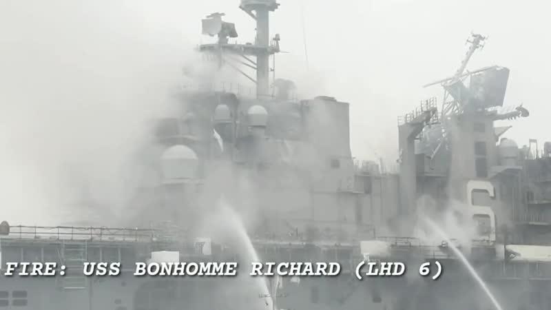 FIRE_ USS BONHOMME RICHARD (LHD 6)