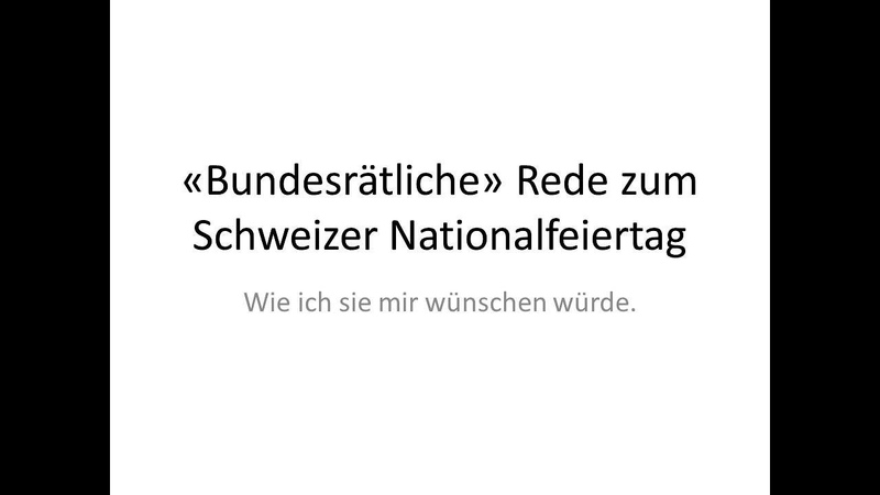 Folge 31 Corona Schweiz und eine bundesrätliche Rede zum Nationalfeiertag
