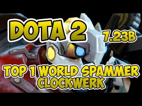 Top 1 World Clockwerk Spammer [3100 Matches] [Dota 2] [7.23b] [M'A owes Waka $100] [Gameplay]