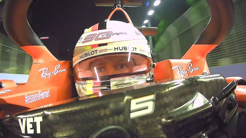 Blink and You'll Miss It! Facecam with Sebastian Vettel   2019 Singapore Grand Prix