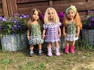 23 МК Вязаное платье крючком для кукол Готц