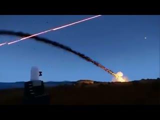 Система защиты от ракет в действии. Израиль