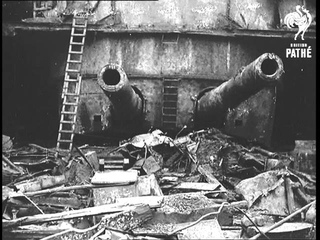 Breaking Up Salvaged Cruiser At Rosyth (1937)