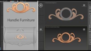 3ds max-CNC handle furniture model