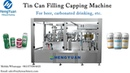 Tin Can CO2 Gas Contained Drinks Filling Capping Machine Beer Bottling Equipment