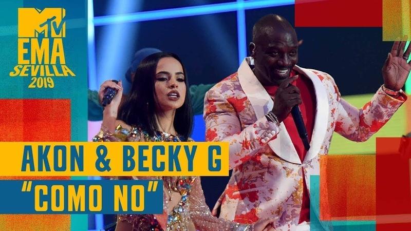 Akon Becky G Como No LIVE MTV EMA 2019