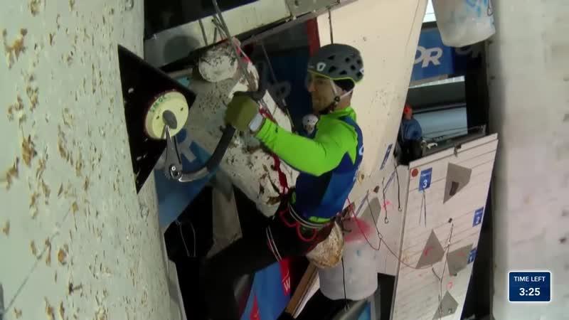 Полуфинал Дмитрия Гребенникова Saas Fee Switzerland Mens Lead Semi Finals 2020 UIAA Ice Climbing