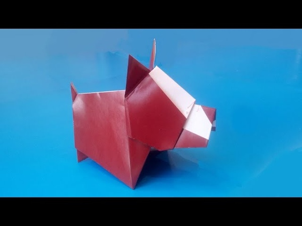 Бостон терьер из бумаги Lee Won pyo Boston Terrier made of paper
