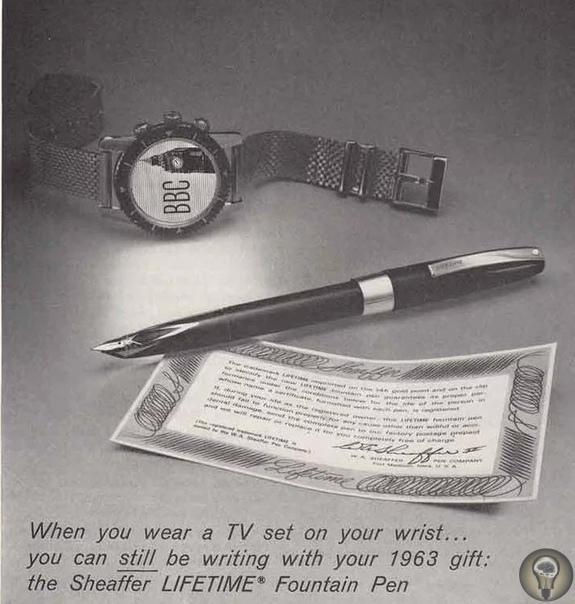 Будущее в рекламе перьевых ручек